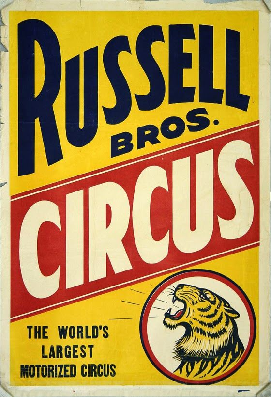 Free Vintage Posters Russell Bros Circus The Worlds Largest Motorized