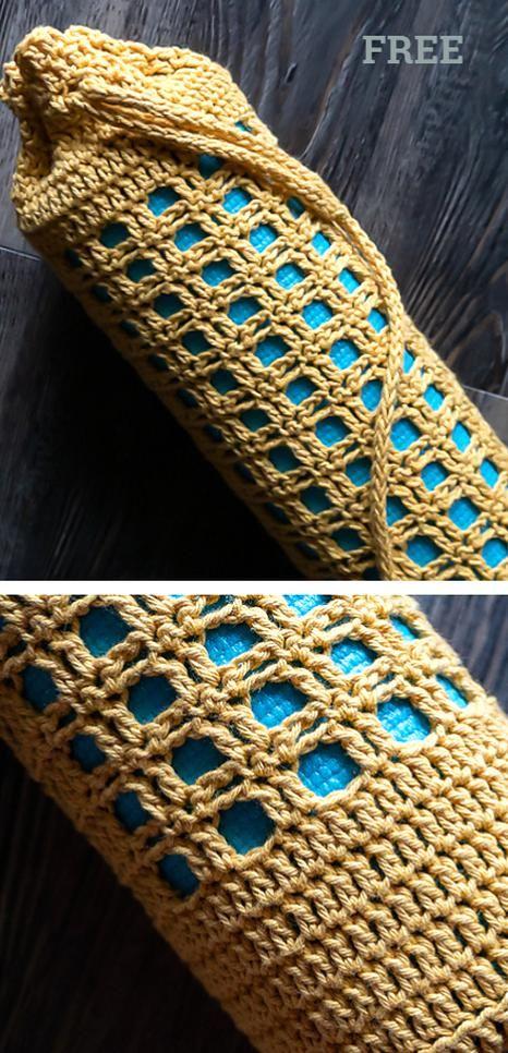 Yoga Mat Bag Free Crochet Patterns - DIY Magazine in 2020 ...