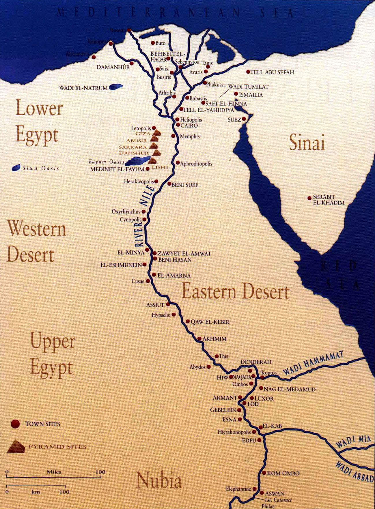 Map Of Nile River Ancient Egypt