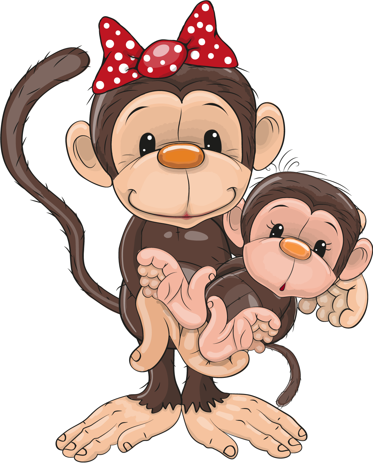 Картинка из мультиков прикольной обезьянки, радости