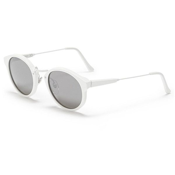 cateye sunglasses - White Retro Superfuture f8qie7O5k