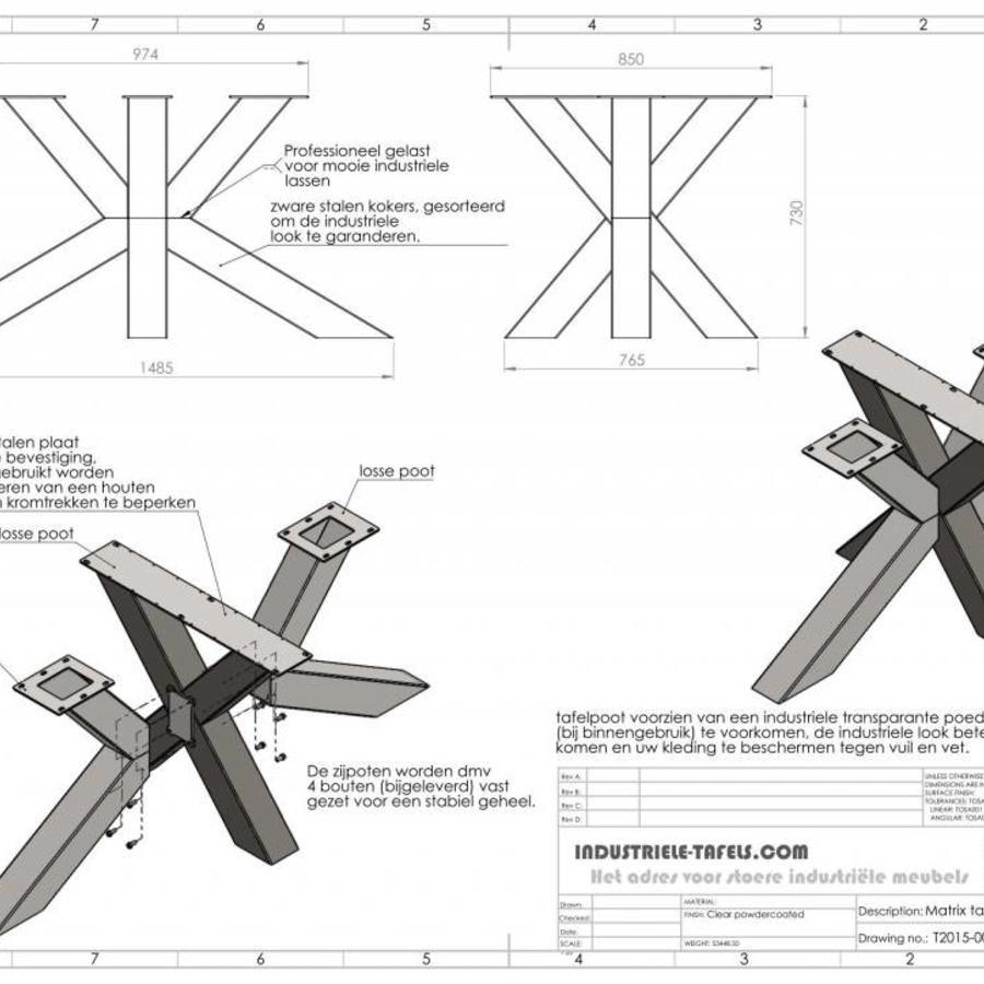 Handgemaakt Industrieel Tafelonderstel Matrix Tafelpoot Zwaar Verzinkt Pied De Table Design Pieds De Table Table De Salle A Manger Bois