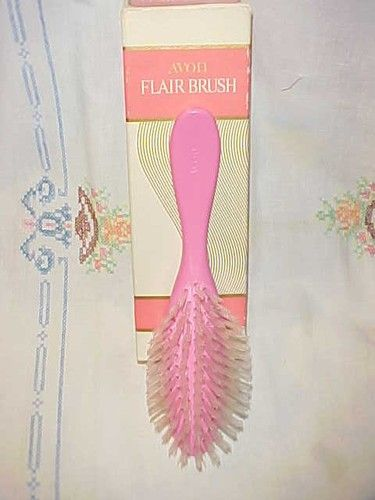 Many A Cry Because Of This Brush Vintage Avon Pink Flair Hair