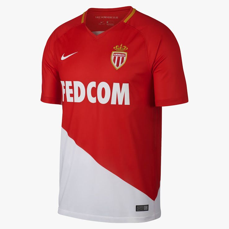 Nike AS Monaco Home Jersey 17 18  3798efdcf2a