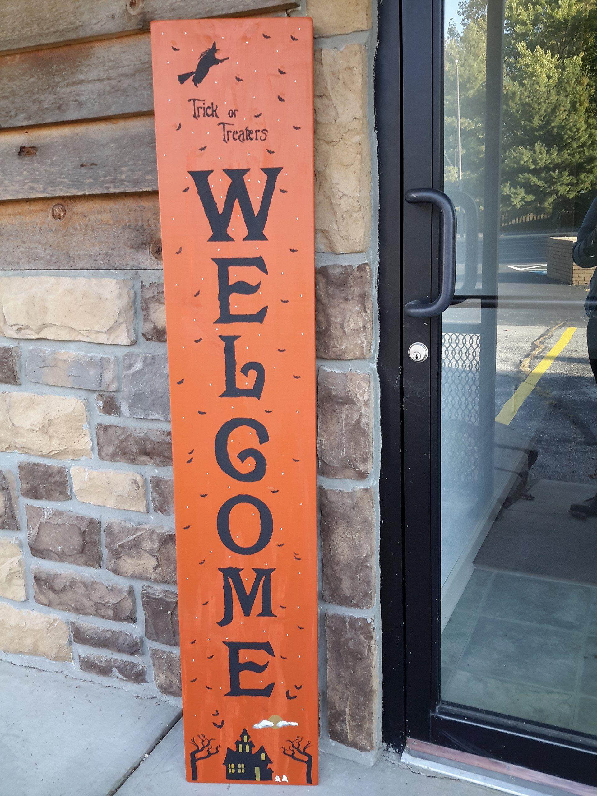 Custom Wood Sign Halloween Outdoor Door Porch Decor