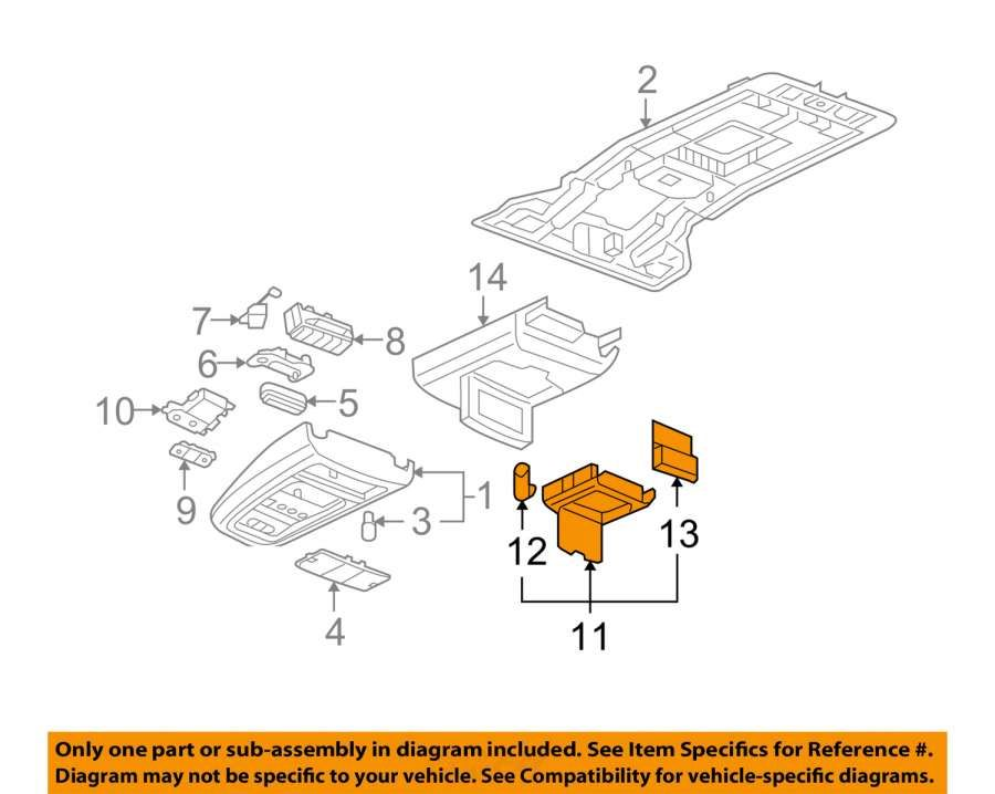 15  2006 Dodge Truck Overhead Roof Console Diagram