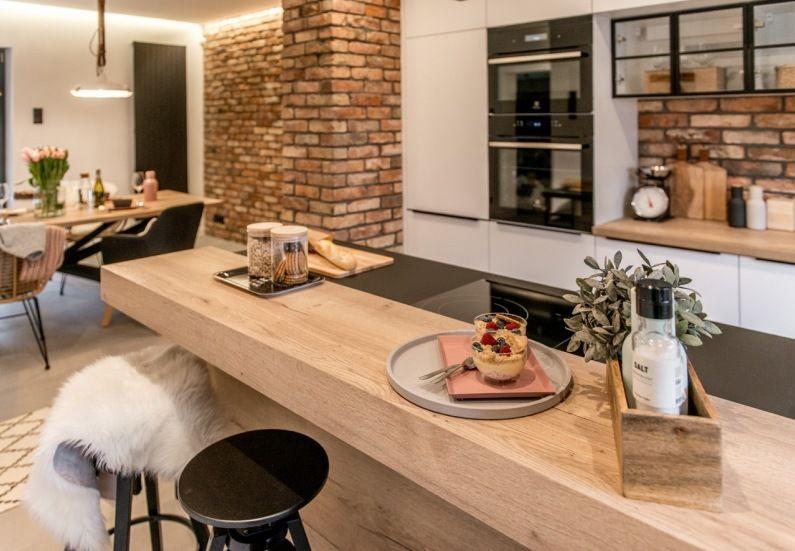 Biala Kuchnia Z Cegla Lovingit Pl Modern Kitchen Set Kitchen Interior Design Modern Kitchen Interior