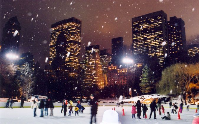 ice skate in central park yes i want to do this because holden caulfield did it