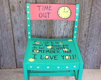 Owl Painted Wooden Chairs | Hand Painted Childrens Chair   Time Out Chair .