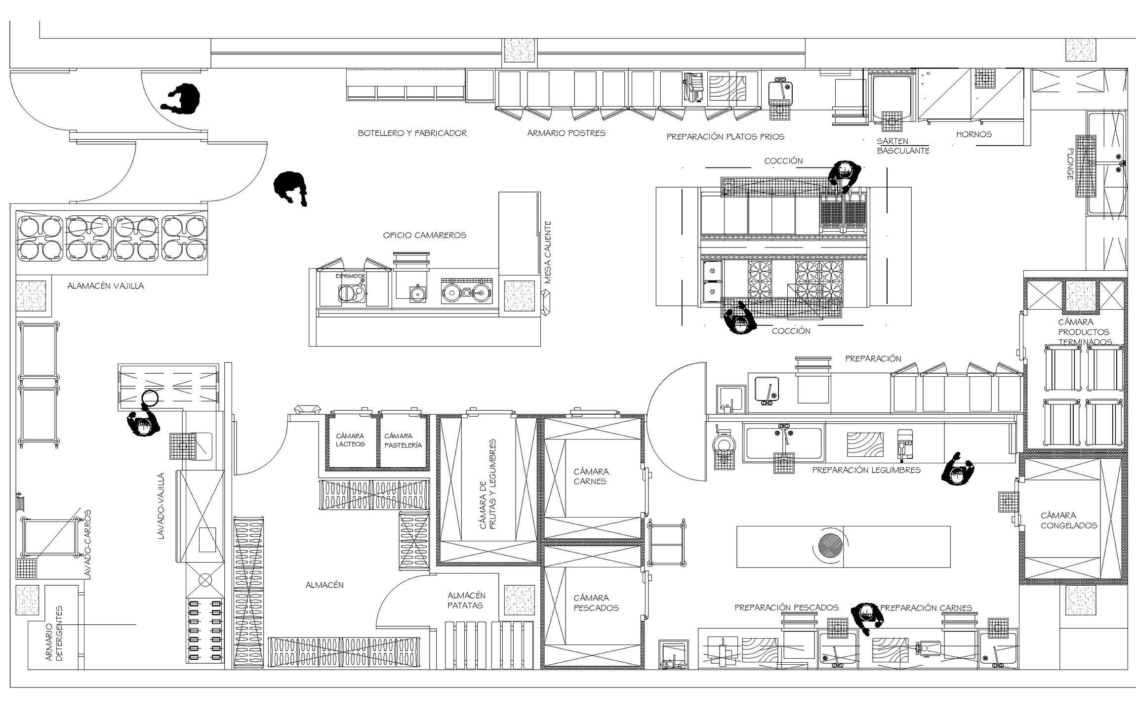 Distribuci N De Una Cocina Industrial Planos De Una Cocina Restaurante Diseño De Cocina De Restaurante Planos De Cocinas Restaurantes Planos