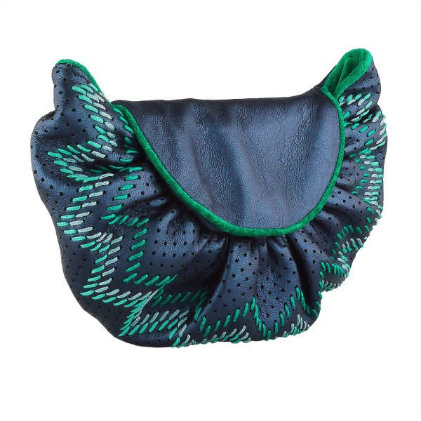 Pouches, pochettes, clutches & beach bags: Bags for all occasions. Petrol Navajo clutch purse