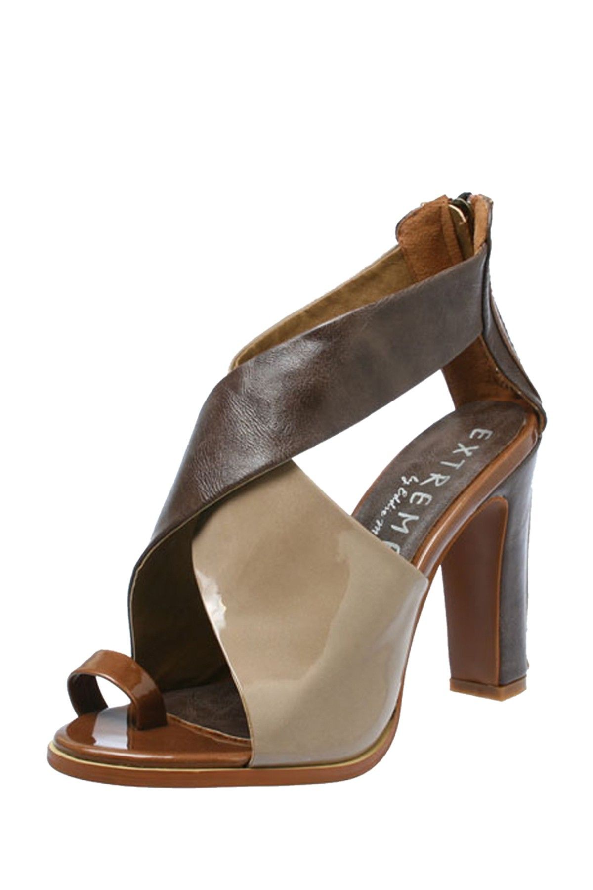 Fancy Feet  EXTREME by Eddie Marc Valerie Patent 3-Color Heel  $15.00