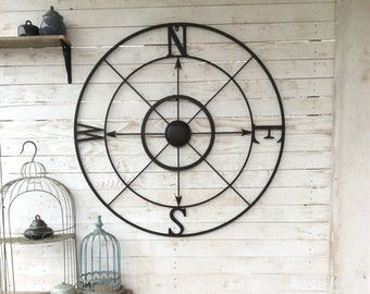 Exceptionnel Nautical Wall Decor Metal Compass Wall Art By CamillaCotton