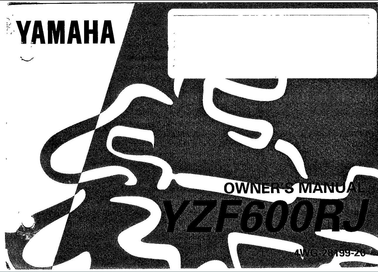 Yamaha Yzf600r J 1997 Owner S Manual Has Been Published On Procarmanuals Com Https Procarmanuals Com Yamaha Yzf600r J 1997 Owner In 2020 Owners Manuals Yamaha Manual