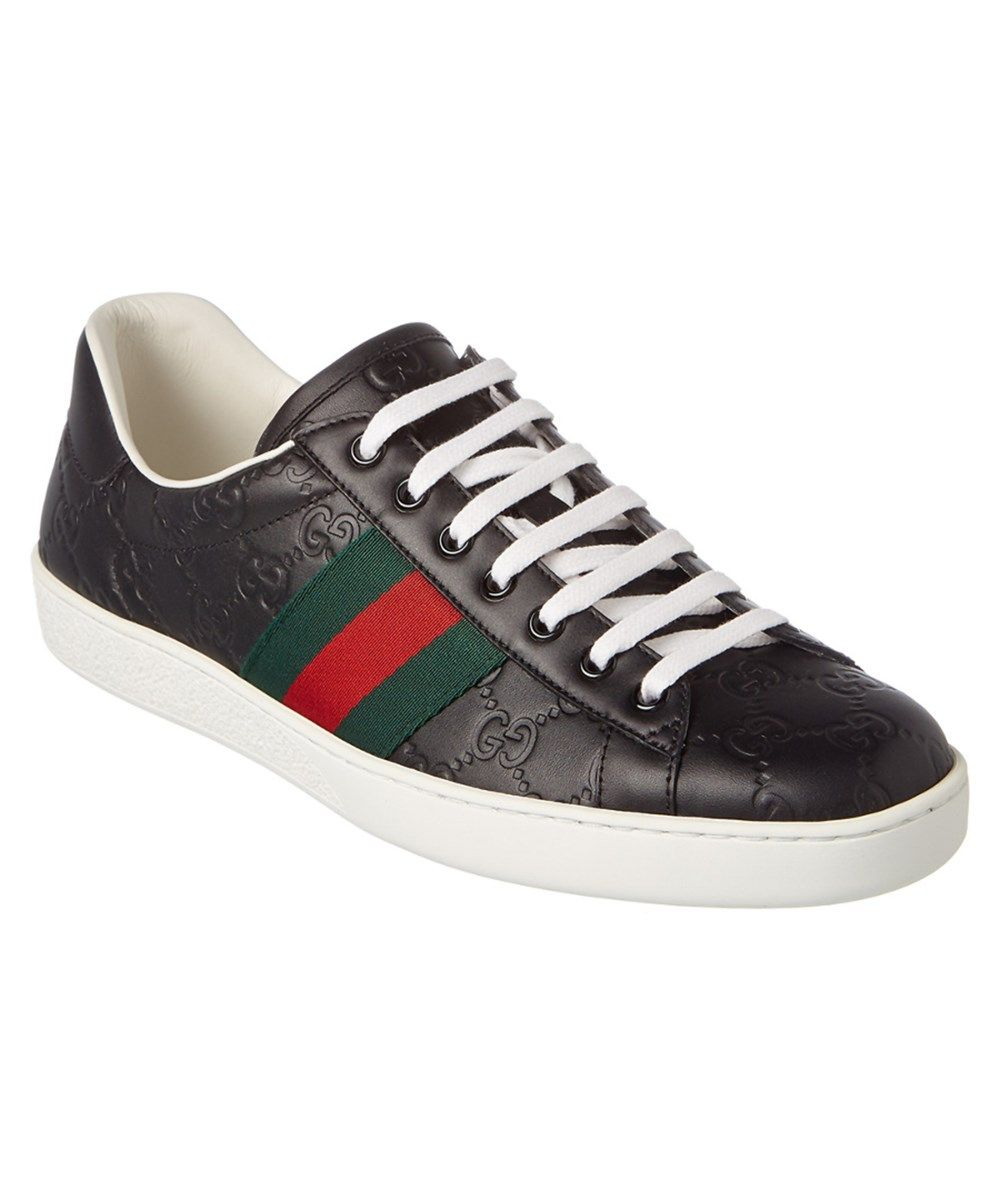 aa5dee02cf1 GUCCI Gucci Ace Signature Leather Low-Top Sneaker .  gucci  shoes  loafers
