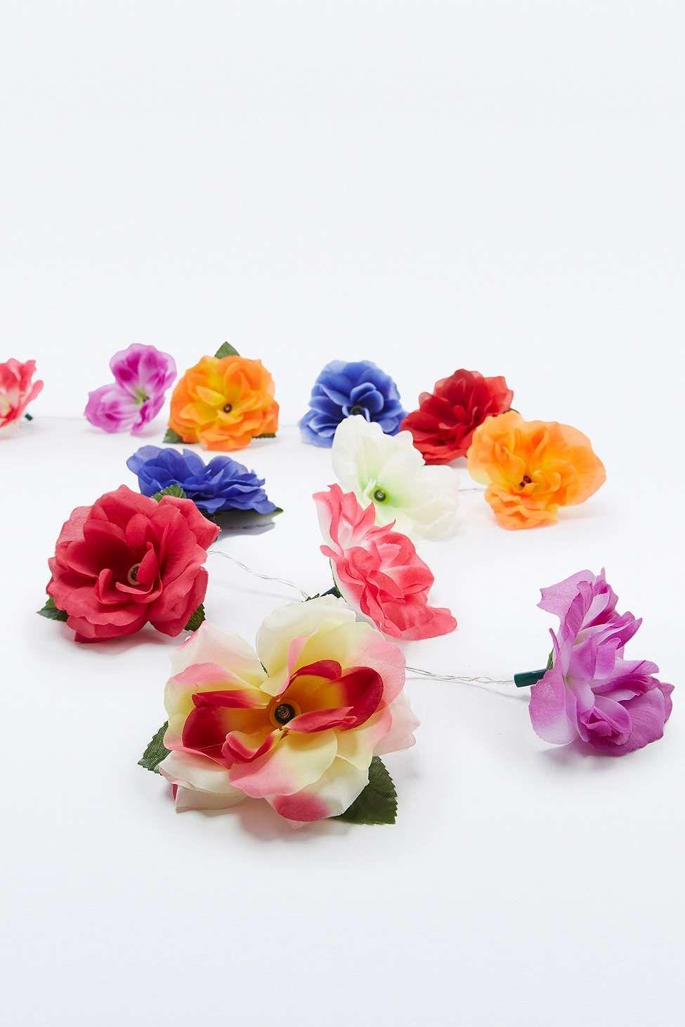 Guirlande de fleurs lumineuse