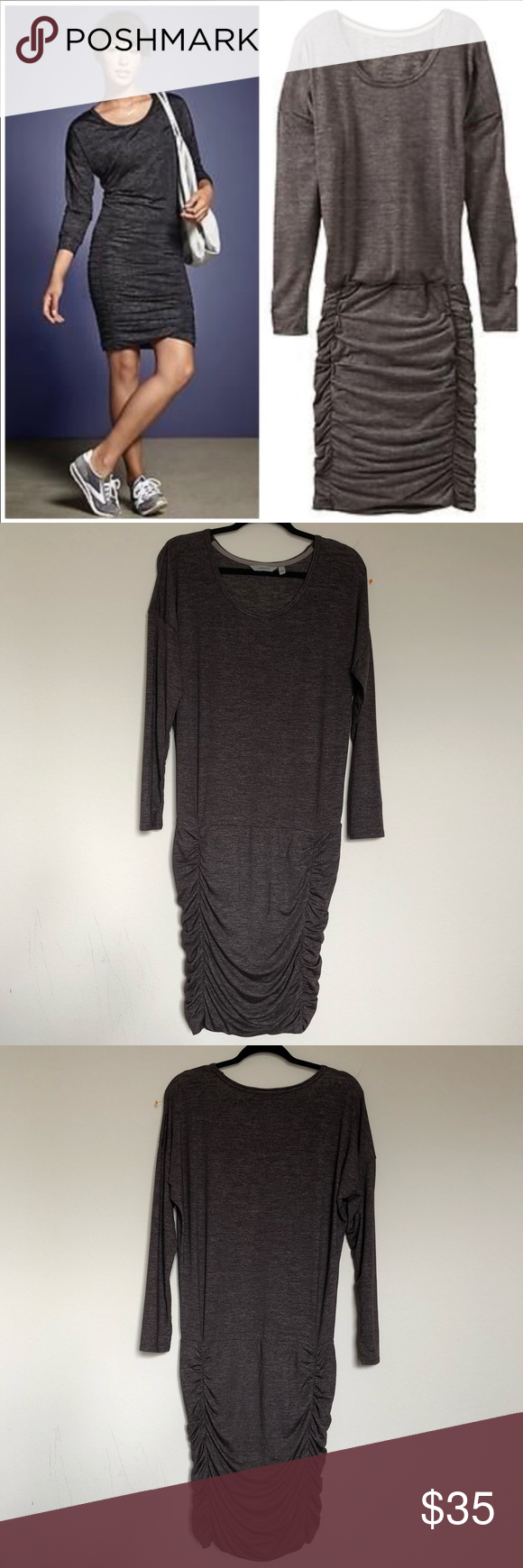 9d87e8656114 ATHLETA Long Sleeve Tulip Dress Great condition Approximately measurements  laying flat 🔹pit to pit 20 inches 🔹waist 15 inches 🔹38 inches long  Athleta ...
