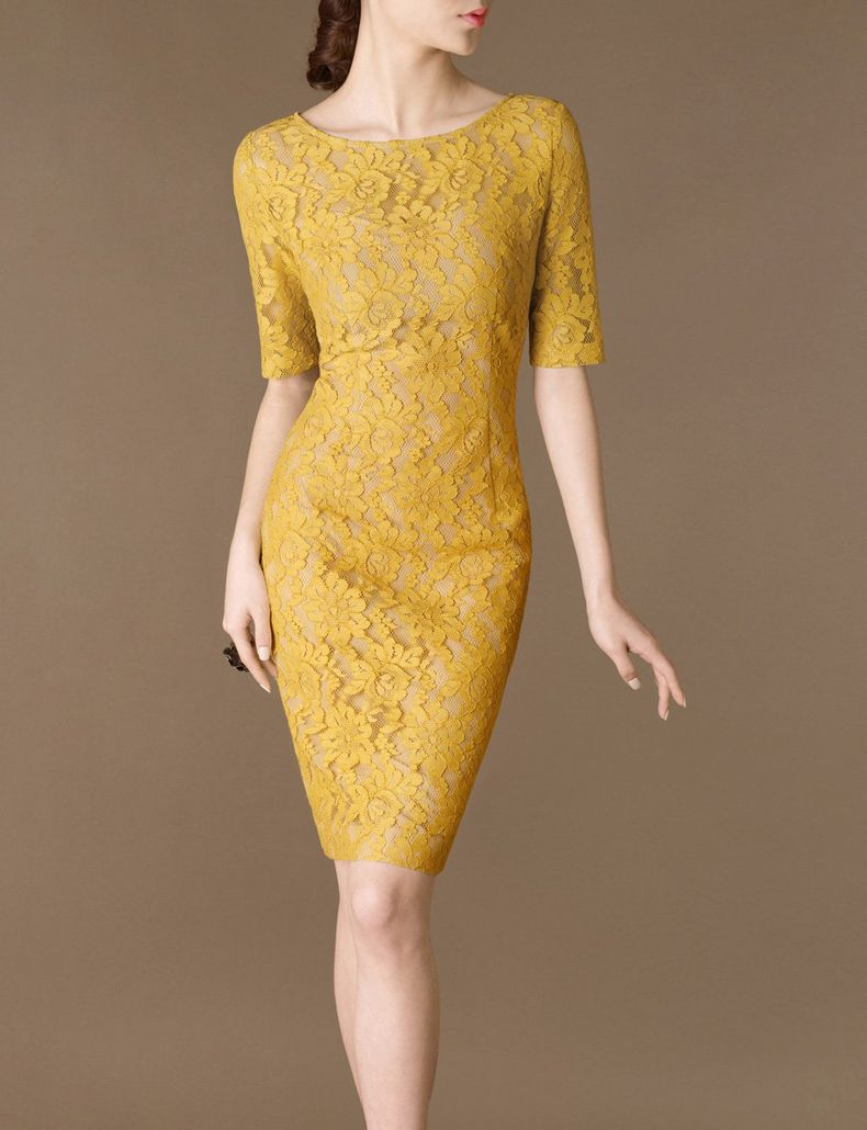 Made to size yellow wedding dress by chieflady elegant fashion