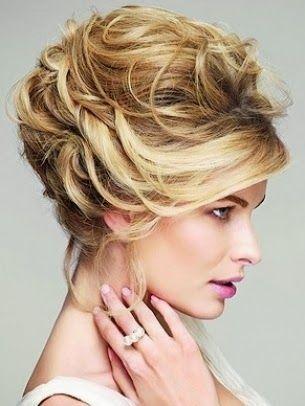 Diseo de peinado para rubia peinados Pinterest Recogido pelo