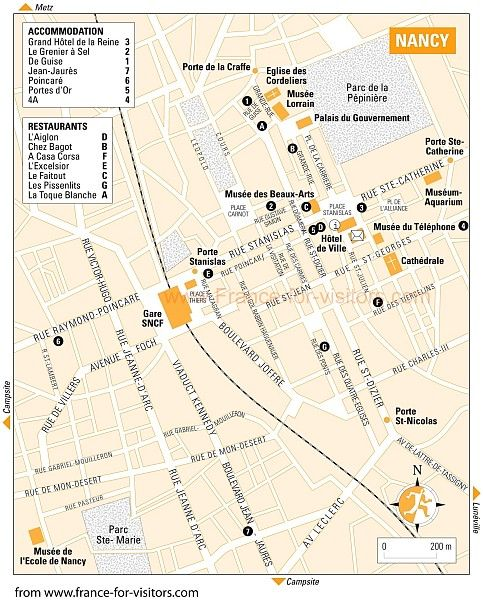 PDF map of Nancy Travel Nancy Pinterest France Paris hotels
