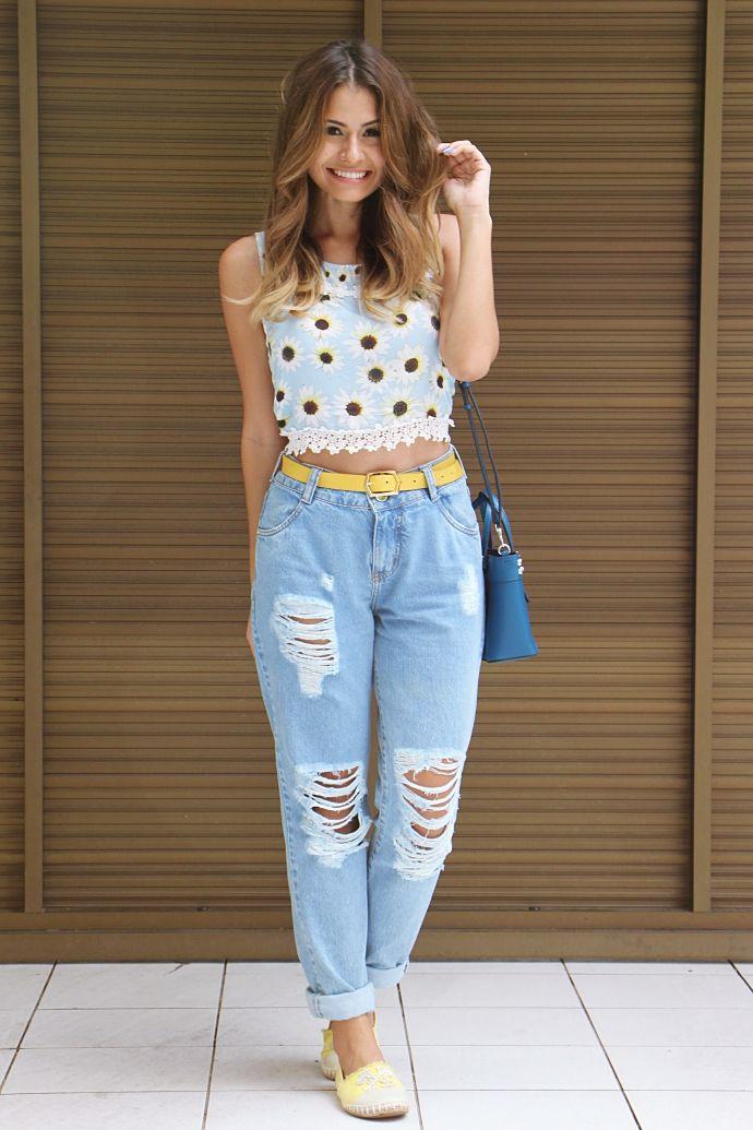 6d067b78c victoria rocha looks - boyfriend jeans, top shirt | everything em ...
