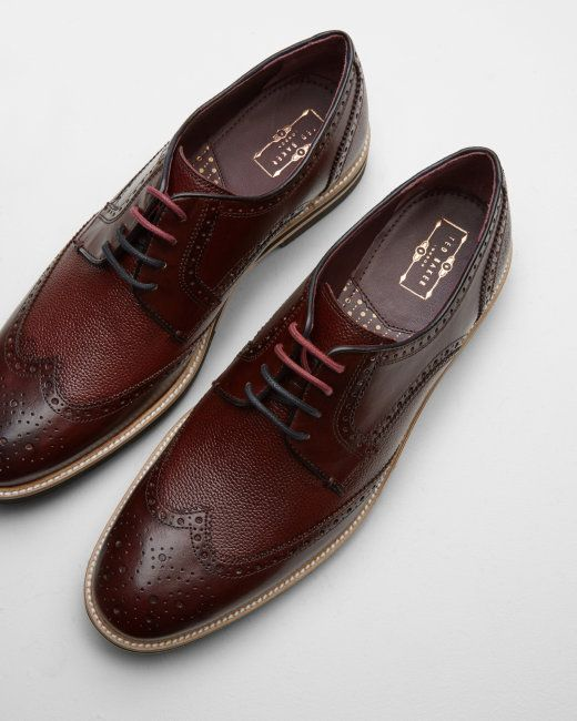 c8d9ee3caf072 Leather wingtip derby brogues - Dark Red