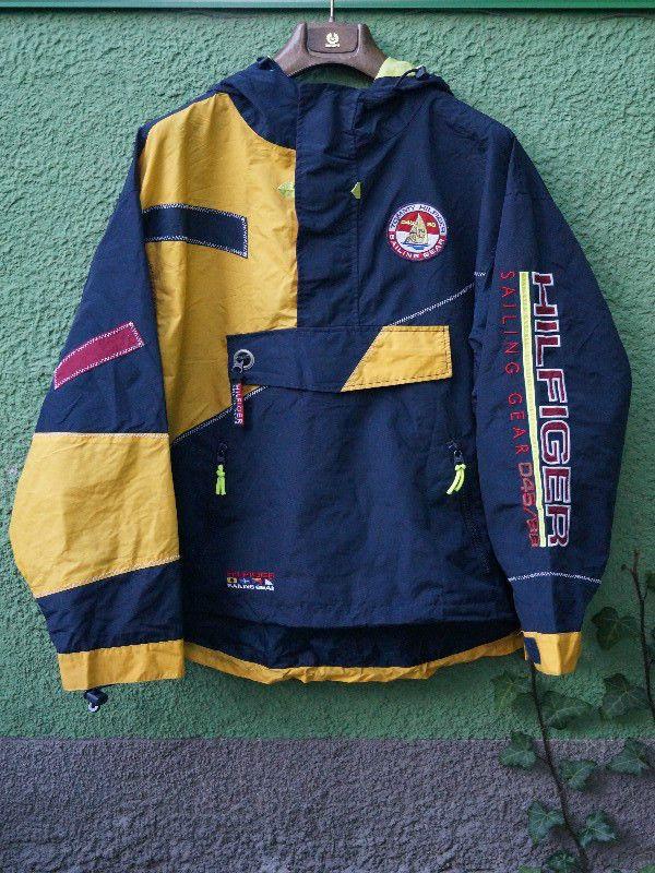6a90eb882423d Vintage Tommy Hilfiger Sailing Gear 45 88 Reflective Rare Mens Jacket Size  - XL