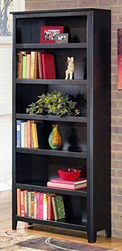 Ashley Furniture Signature Design Carlyle Bookcase 5 Shelves Contemporary Almost Black