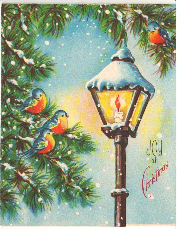 lantern vintage weihnachtskarten vintage weihnachten. Black Bedroom Furniture Sets. Home Design Ideas