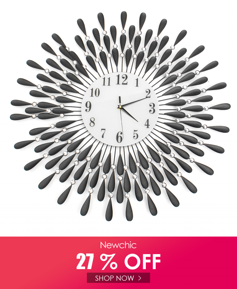 Fleble Modern 14 inch Metal Wall Clock Silver Dial with Arabic,Non-Ticking Silent Digital Clock Home Decor for Living Room,Bedroom,bedrooms Kitchen and Small Areas Space