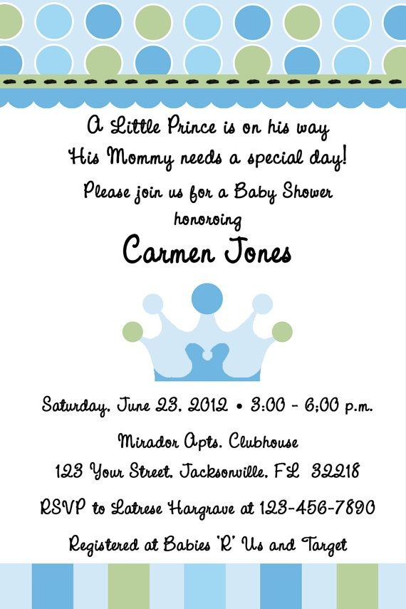 Download Now Prince Themed Baby Shower Invitations | FREE Baby ...