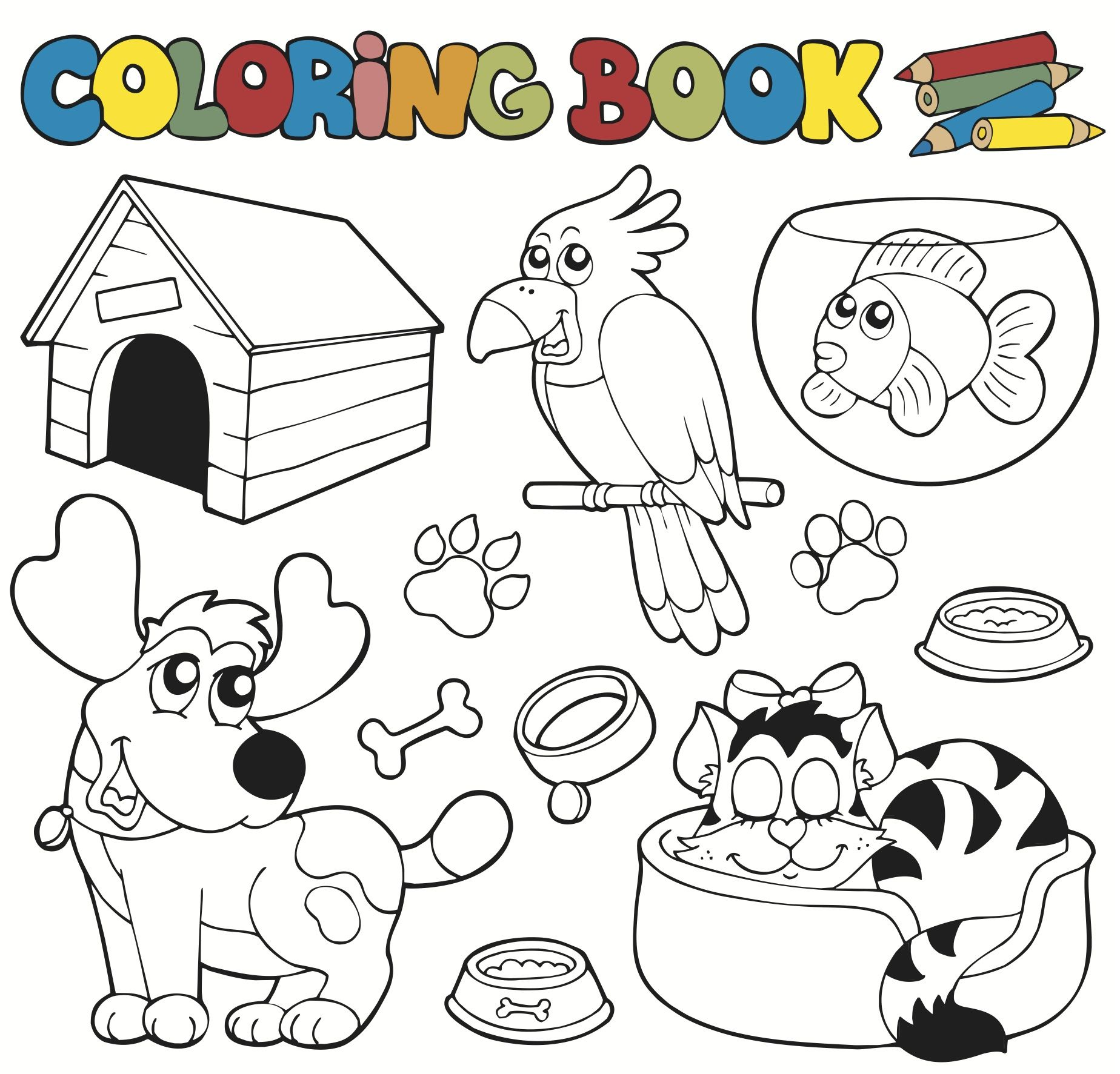 Animals Coloring Page For Kids! Pete the Cat I Love