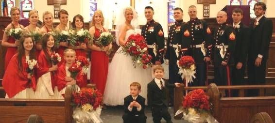 Marine Corps Wedding Bouquet Ideas Commissioned Officers In The Bridal Party This Is Exactly
