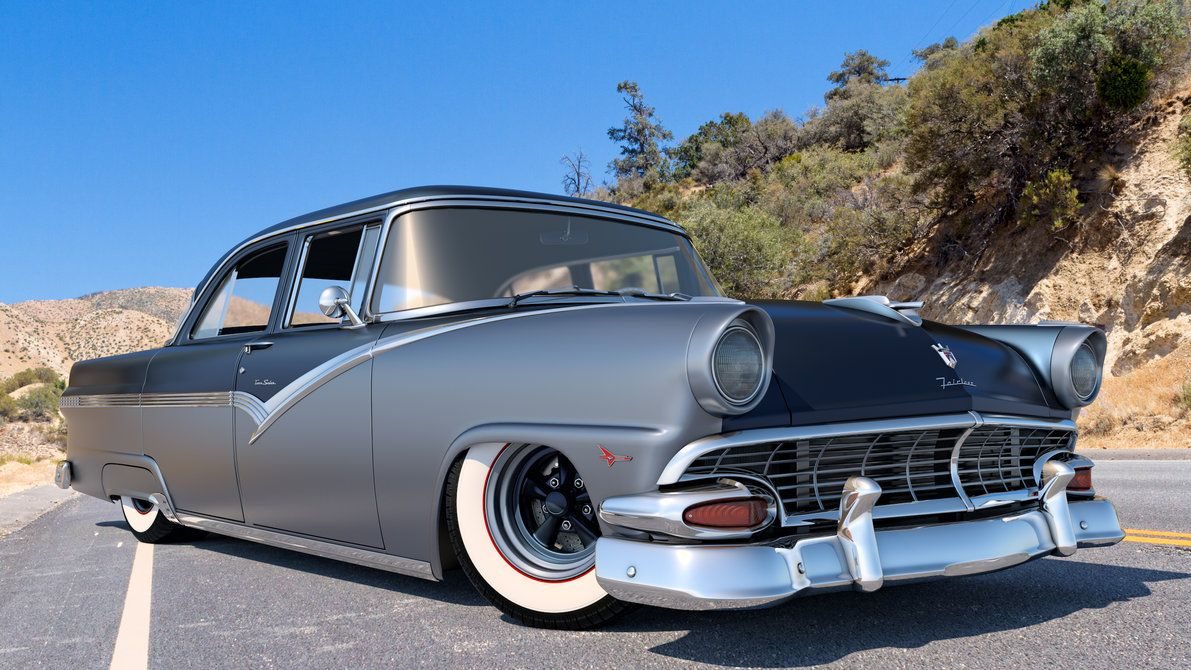1956 Ford Fairlane Town Sedan By Samcurry Ford Fairlane
