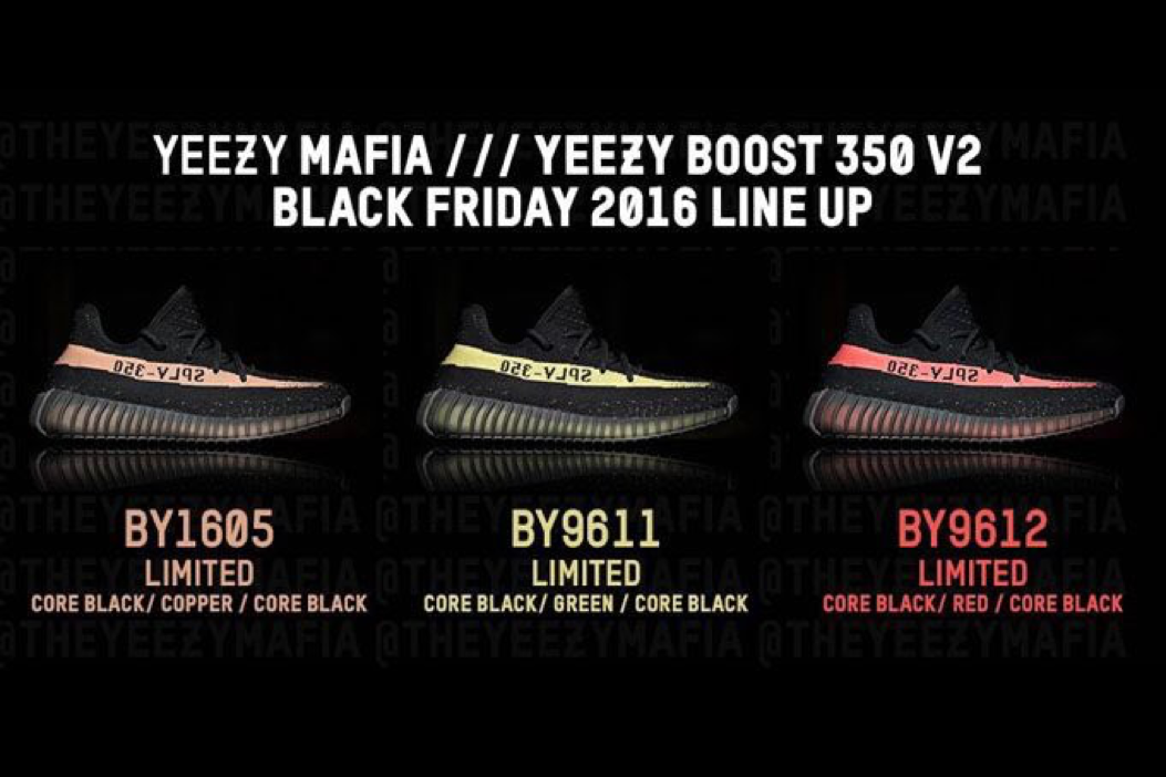 79057767268e There will be three YEEZY Boost 350 V2 releases on Black Friday  sneakerbardetroit.com adidas-yeezy-b…