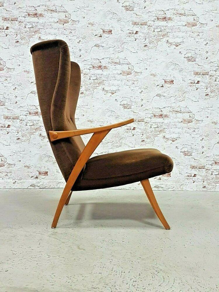 50er Vintage Ohrensessel Sessel Rockabilly Lounge Chair Relax