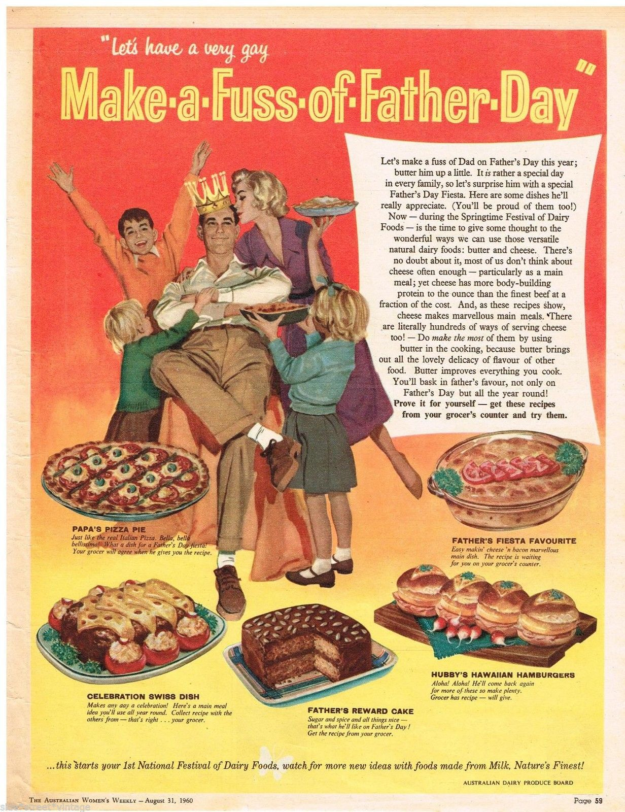 1960 Make a fuss Fathers Day