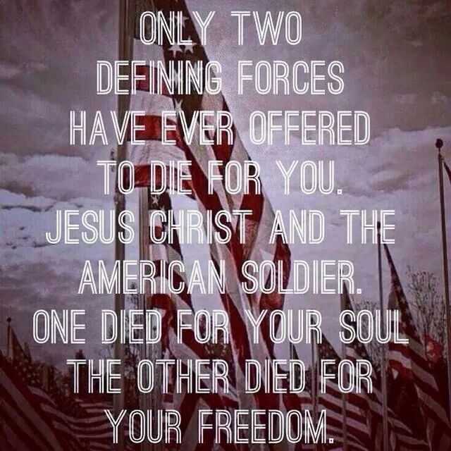 Only 2 defining forces have ever offered to die for you ...