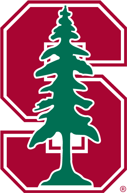 Stanford Cardinal Primary Logo 1993 Red S With Green Pine Tree Stanford Logo Stanford Football Stanford University
