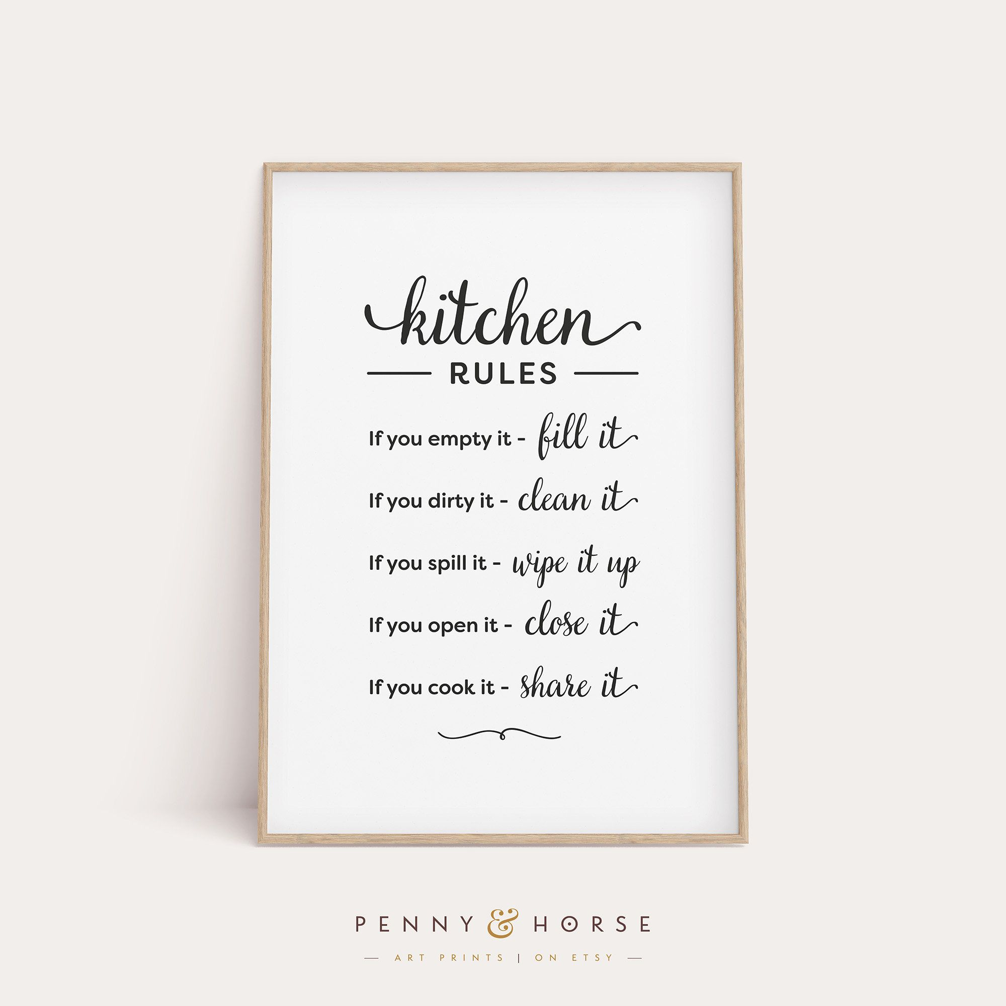 Kitchen Rules Sign Kitchen Wall Decor Printable Art Kitchen Rules Print Kitchen Gift Kitchen Poster Kitchen Wall Art Digital Download In 2020 Kitchen Rules Kitchen Rules Sign Wall Decor Printables