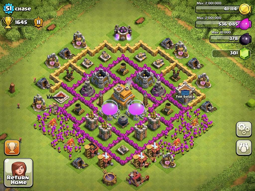 Clash Of Clans Town Hall Level 7 Base Layouts Coc Th7 Clash Of Clans Clash Of Clans Levels Clash Of Clans Hack