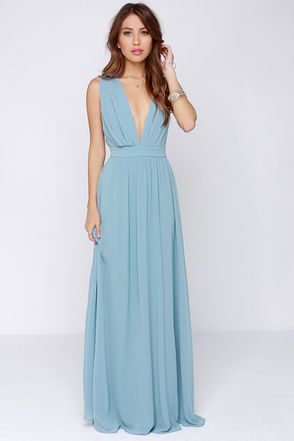 6c56b2e20c3 Lovely Maxi Dress - Light Blue Dress - Bridesmaid Dress -  123.00