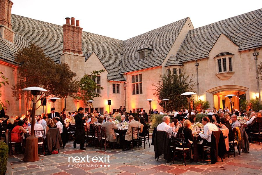 Greystone Mansion Wedding In Beverly Hills The Courtyard Makes For A Beautiful Reception