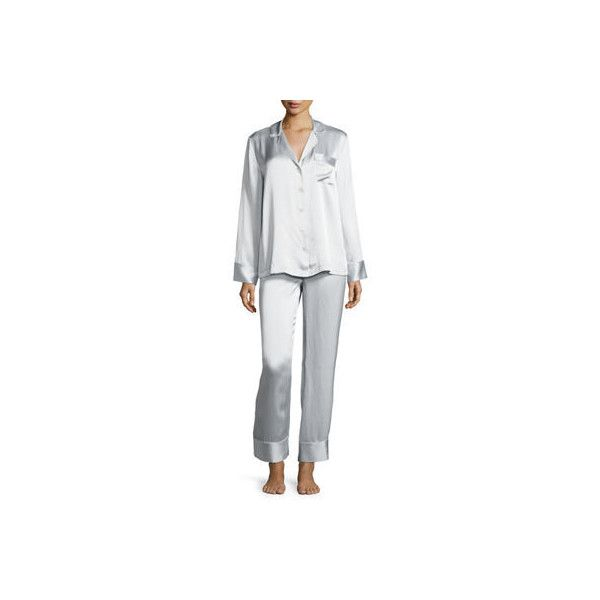 Neiman Marcus Silk Satin Two-Piece Pajama Set ( 142) ❤ liked on Polyvore be1aecce8
