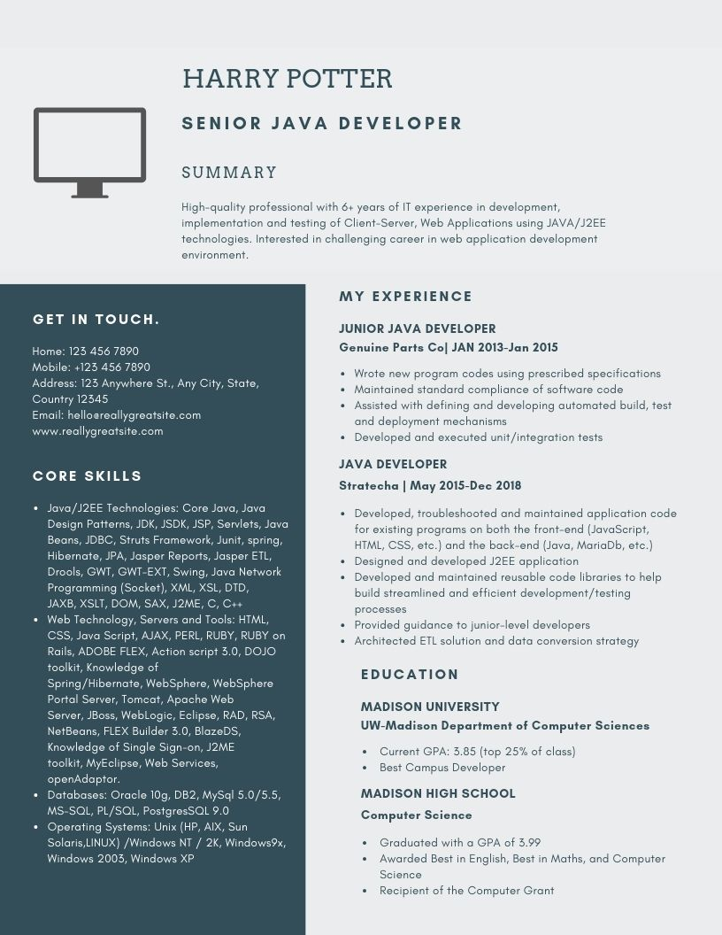 Senior Java Developer Resume Samples Templates Pdf Word 2021 Senior Java Developer Resumes Bot Resume Resume Examples Job Resume Samples