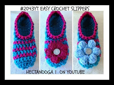 138 How To Crochet Easy Slippers Any Size Free Crochet Pattern