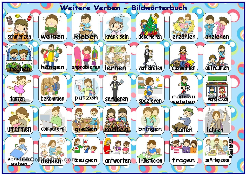 Weitere Verben - Bildwörterbuch | Deutsch | Pinterest | German