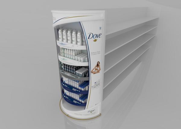 Retail Point of Purchase Design | POP Design | Health & Beauty POP Display | Punta de Góndola by Carolina Cañón Moreno, via Behance