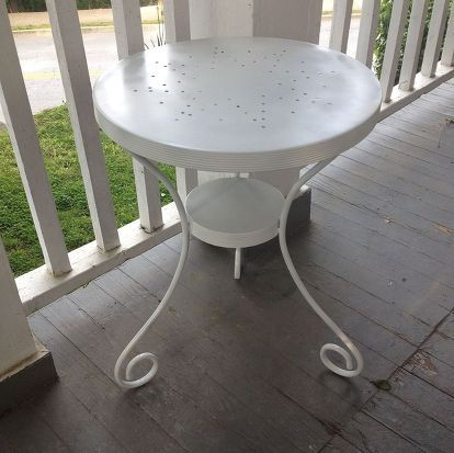 patio table makeover | mobili, patios e mobili dipinti - Mobili Da Giardino Idee Dipinte