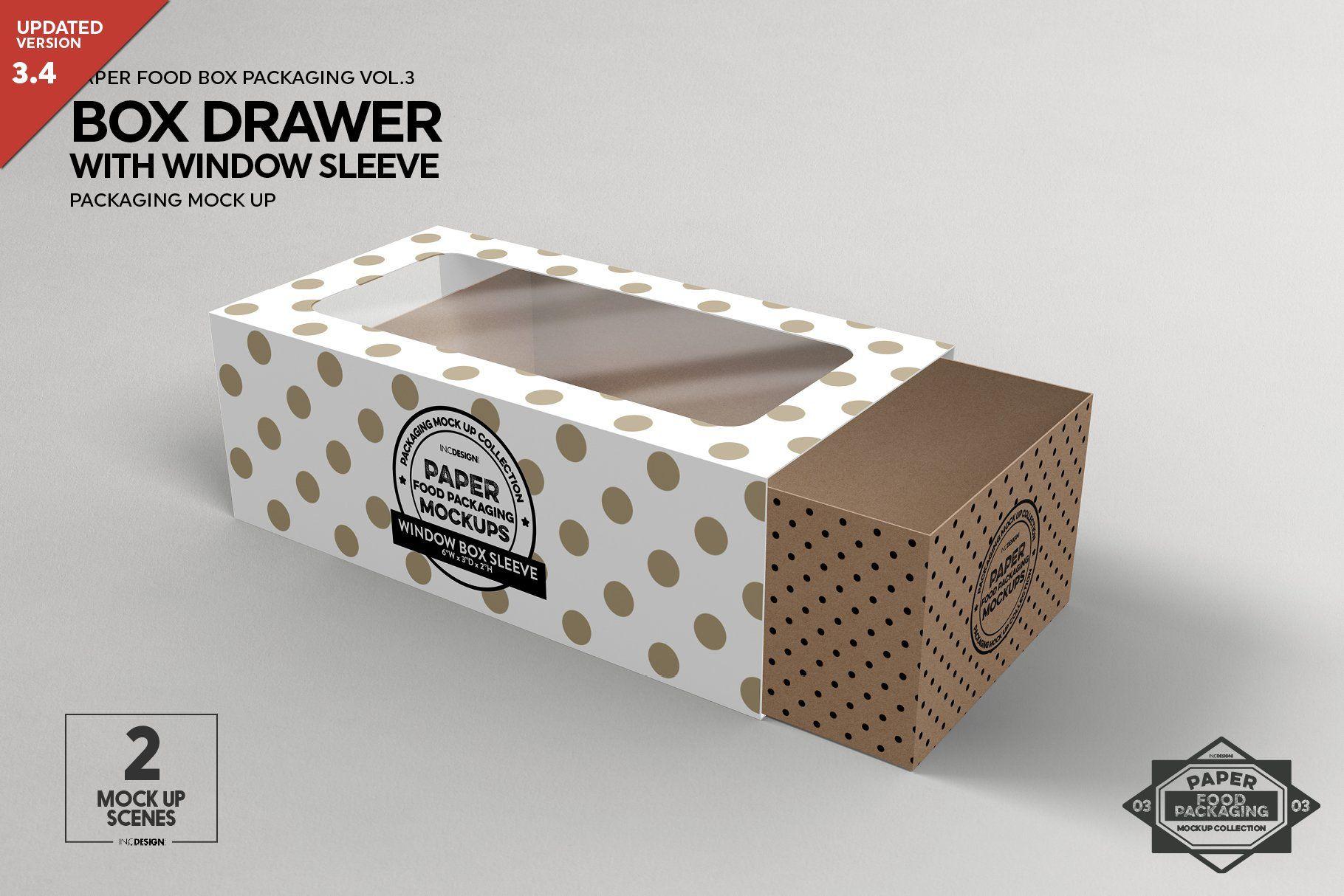 Box window sleeve packaging mockup ad affiliate work